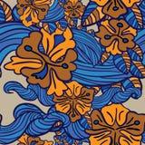 bukietów formie ciągnąć wzoru mały bezszwowy kwiat Obrazy Stock