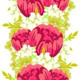 bukietów formie ciągnąć wzoru mały bezszwowy kwiat Zdjęcia Stock