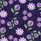 bukietów formie ciągnąć wzoru mały bezszwowy kwiat Zdjęcie Royalty Free