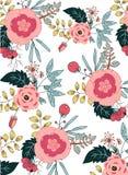 bukietów formie ciągnąć wzoru mały bezszwowy kwiat Zdjęcia Royalty Free