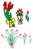 bukietów kwiaty ilustracji