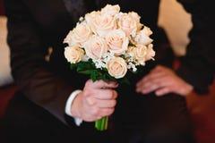3 bukietów ostrości przedpola ślub zdjęcia stock