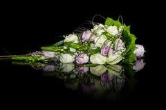 3 bukietów ostrości przedpola ślub Fotografia Royalty Free
