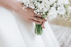 3 bukietów ostrości przedpola ślub Obrazy Royalty Free