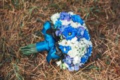 3 bukietów ostrości przedpola ślub Fotografia Stock