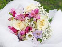 3 bukietów ostrości przedpola ślub Obraz Royalty Free