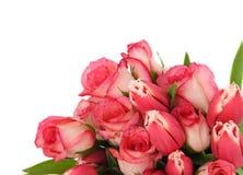 bukietów różowe kwiaty, Zdjęcia Stock