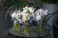 bukiet biały narcyz w wazie Obrazy Royalty Free