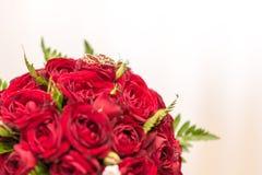 Bukiet czerwone róże Zdjęcia Royalty Free