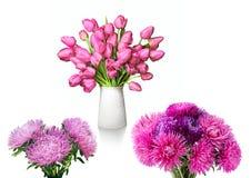 Bukiet czerwoni tulipany w białej wazie obraz royalty free