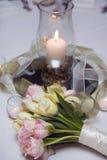 bukiet dekoracja kwitnie tulipanu Zdjęcia Stock