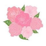Bukiet delikatne róże z liśćmi Ślubny bukiet, bukiet panna młoda Zdjęcie Royalty Free