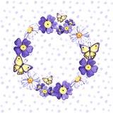Bukiet dziki lato kwitnie - rumianku, stokrotka, niezapominajka, akwareli ilustracja Akwarela dzika, ??kowy kwiat royalty ilustracja