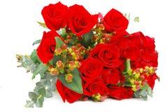 bukiet folować róże Obrazy Royalty Free