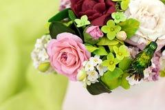 Bukiet handcrafted cukrowi kwiaty Zdjęcie Royalty Free