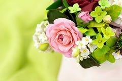 Bukiet handcrafted cukrowi kwiaty Zdjęcia Royalty Free