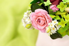 Bukiet handcrafted cukrowi kwiaty Obraz Royalty Free
