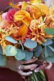 bukiet kwiatów ślub obraz stock