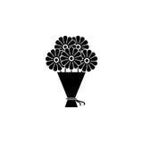 Bukiet kwiat ikona Obrazy Royalty Free