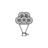 Bukiet kwiat ikona Zdjęcie Royalty Free