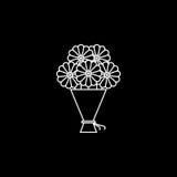 Bukiet kwiat ikona Zdjęcie Stock