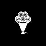 Bukiet kwiat ikona Fotografia Stock