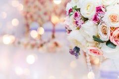 Bukiet kwiaty, Ślubna dekoracja, ręcznie robiony Obraz Stock