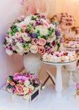 Bukiet kwiaty, Ślubna dekoracja, ręcznie robiony Fotografia Stock