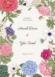 Bukiet kwiaty karty poboru ślub ilustracyjny Fotografia Stock