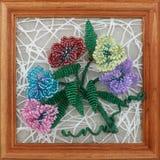 Bukiet kwiaty od koralików Obraz Royalty Free