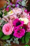 Bukiet kwiaty purpurowi Obrazy Stock