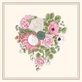 Bukiet kwiaty szczegółowy rysunek kwiecisty pochodzenie wektora Obraz Stock