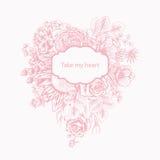Bukiet kwiaty szczegółowy rysunek kwiecisty pochodzenie wektora Fotografia Stock