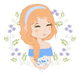 bukiet kwitnie dziewczyny ilustracja wektor