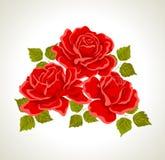 bukiet kwitnie ilustracyjne róże Obrazy Stock