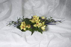 Bukiet od żółtych orchidei Fotografia Royalty Free