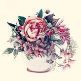 Bukiet od kwiatów z retro filtrowym skutkiem. Obraz Stock
