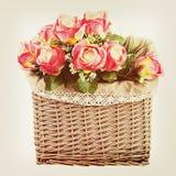 Bukiet od kwiatów z retro filtrowym skutkiem. Zdjęcie Stock
