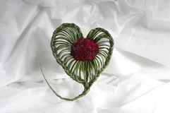 Bukiet od róż w postaci serca Fotografia Royalty Free