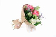 bukiet peonie, róże i alstroemeria, Obrazy Royalty Free