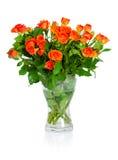 Bukiet róże odizolowywać na białym tle. Zdjęcie Stock
