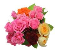 Bukiet róże z liśćmi Fotografia Stock