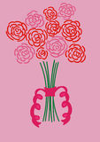 Bukiet Różowe i Czerwone Róże Obraz Stock