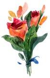 bukiet róże ilustracja wektor