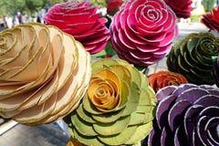 Bukiet sztuczne róże w różnych kolorach Fotografia Stock