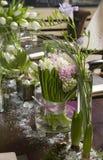 bukiet waza szklana hiacyntowa tulipanowa Obraz Stock