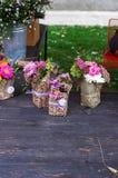 Bukiet wildflowers bukiet kwitnie ilustracja wektor Obrazy Stock