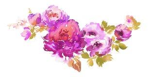 Bukiet wiosny akwareli delikatni kwiaty Obraz Stock