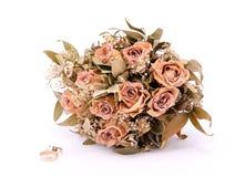 Bukiet wysuszone róże Zdjęcia Royalty Free