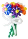 Bukiet z kolorowymi balonowymi kwiatami na białym tle Fotografia Stock
